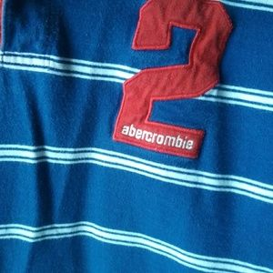Vintage Abercrombie& Fitch Striped Rugby Shirt